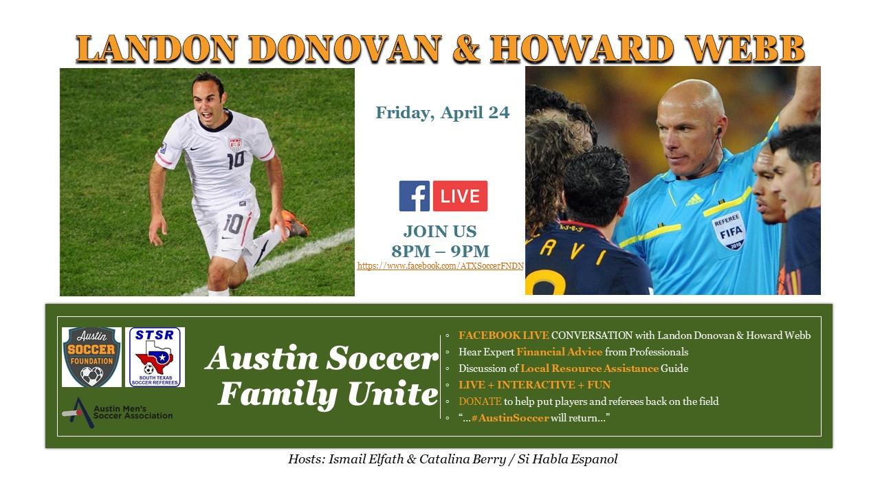 Austin Soccer Family Unite Facebook Live 4/24/20
